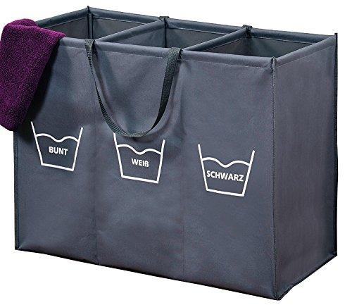 w schesortierer w schekorb w schesammler w schebox trio 150 liter 3 x 50 liter 3 f cher zum. Black Bedroom Furniture Sets. Home Design Ideas
