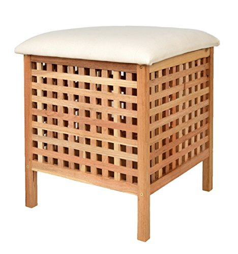 ts ideen badhocker mit sitzkissen sauna badezimmer sitz w schekorb aus walnuss holz aitnexa. Black Bedroom Furniture Sets. Home Design Ideas