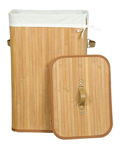 kronenburg bambus w schekorb w schesammler eckig mit deckel 60 x 35 x 35 cm natur aitnexa. Black Bedroom Furniture Sets. Home Design Ideas