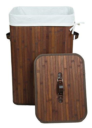 kronenburg bambus w schekorb w schesammler mit deckel fassungsverm gen 70 l 60 x 40 x 30 cm. Black Bedroom Furniture Sets. Home Design Ideas