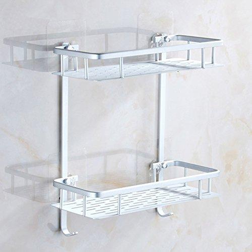 charmingwater duschkorb selbstklebende ablage duschablage badregal duschregal 2 etagen mit 2. Black Bedroom Furniture Sets. Home Design Ideas
